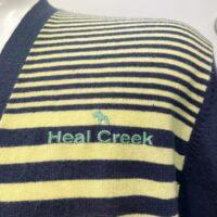 Heal Creek ヒールクリーク メンズ ボーダー カーディガン グリーン×ネイビー 001-58310